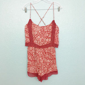Abercrombie & Fitch Pants - Abercombie & Fitch | Pocketed Crochet Trim Romper